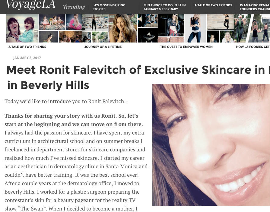 Meet Beverly Hills Facialist Ronit Falevitch
