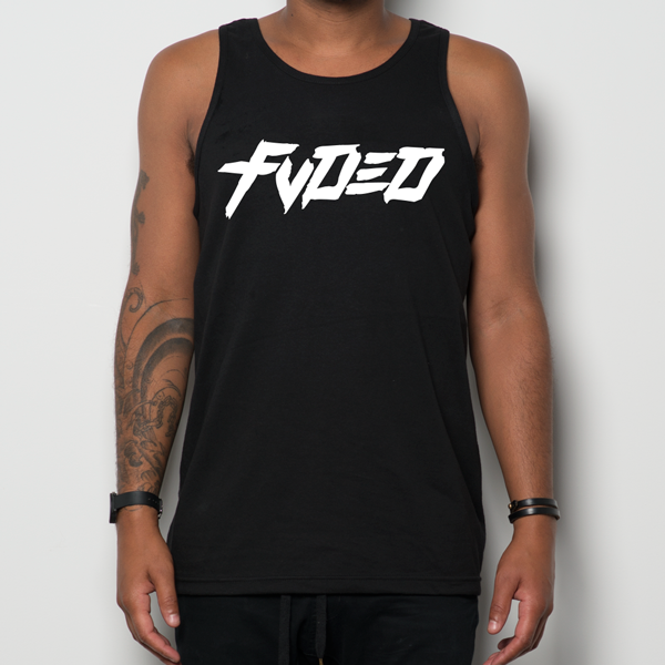 FVDED WHITE LOGO TANK BLACK