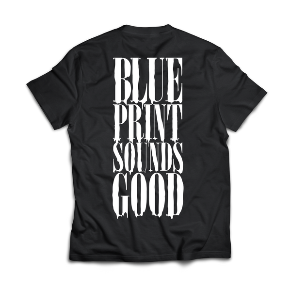 BLUEPRINT Sounds Good T-SHIRT BLACK