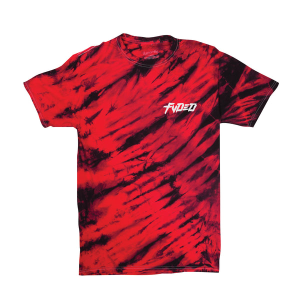 FVDED - Red Tiger Tie Dye Snake T Shirt
