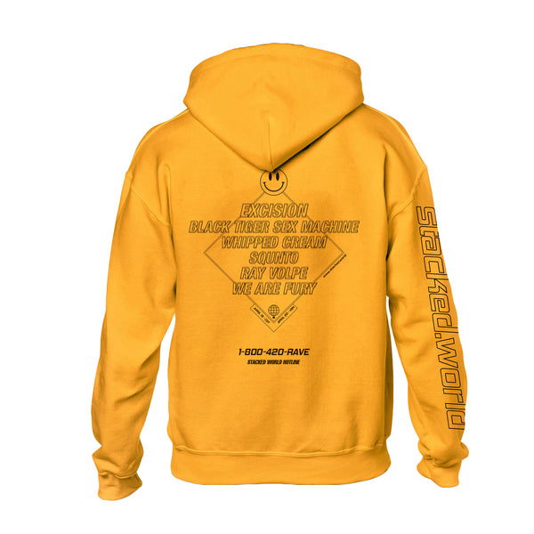 Stacked.World Hoodie - Gold