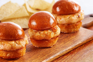 Shrimp - Coach Joe's Shrimp Burger Sliders -- (About (27) 1.5 Oz Sliders In Package)