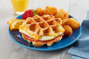 Waffles - Coach Joe's Bacon, Egg & Cheese Waffle Stacker (24 Count)