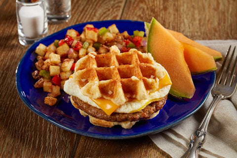 Waffles - Coach Joe's Pork Sausage, Egg & Cheese Waffle Stacker (24 Count)