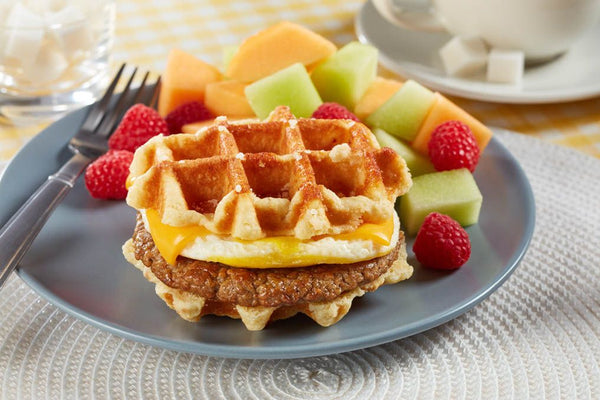 Waffles - Coach Joe's Turkey Sausage, Egg & Cheese Waffle Stacker (24 Count)