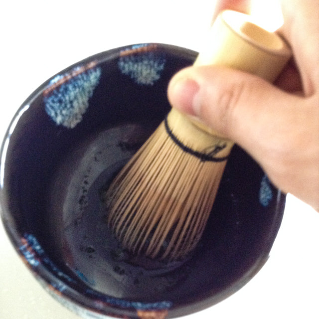 whisking your matcha