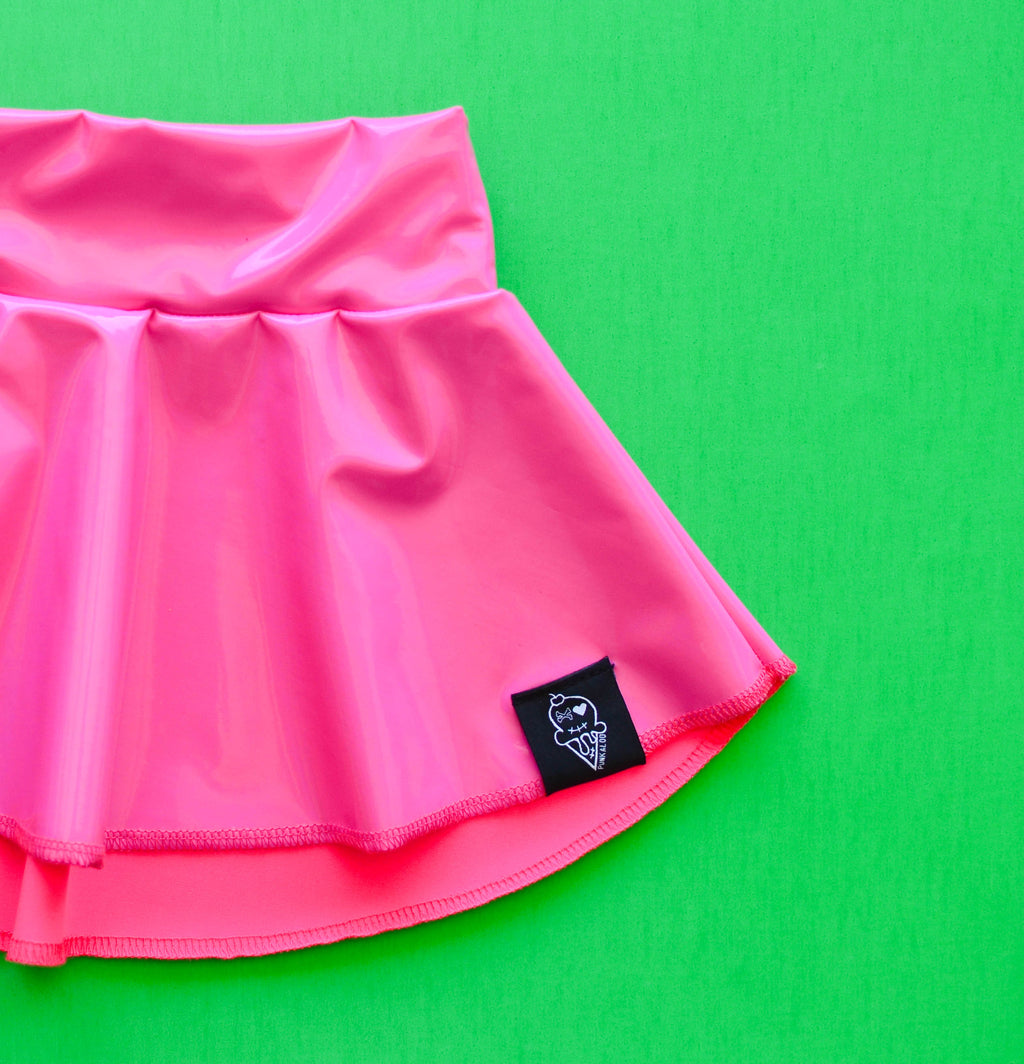 Bubble Gum | Summer Patent Skater Skirt