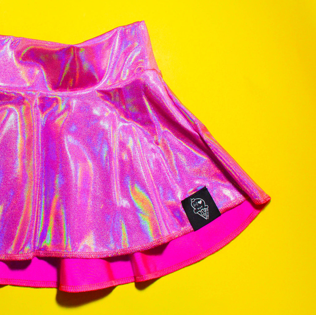 Pretentious Pink Skater Skirt