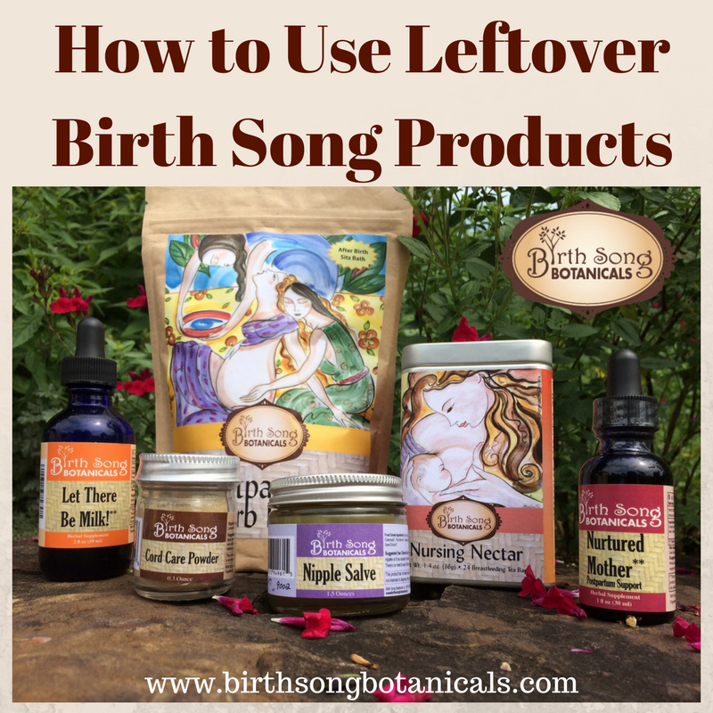 How to Use Leftover Birth Song Products