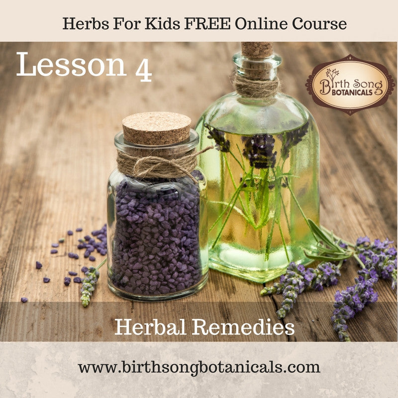 LESSON 4- Herbal Remedies for Children's Cold and Flu