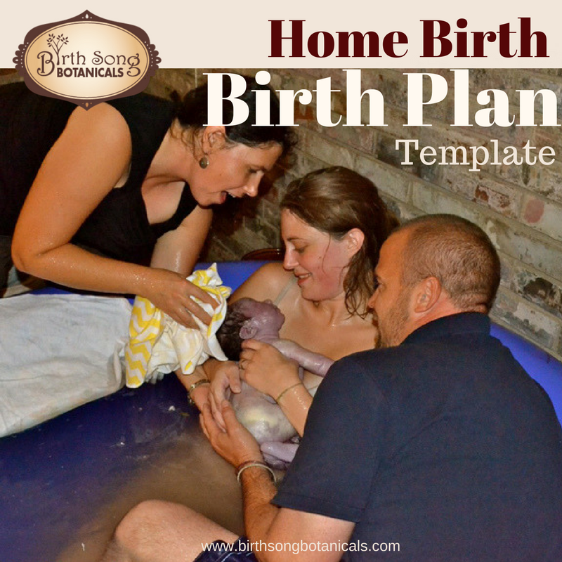 Writing a Homebirth Birth Plan