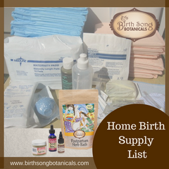 Home Birth Supply List
