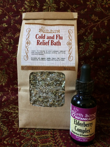 cold and flu bath for breastfeeding moms