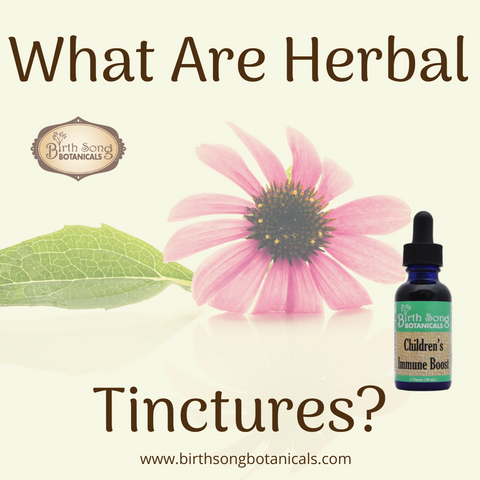 What are herbal tinctures