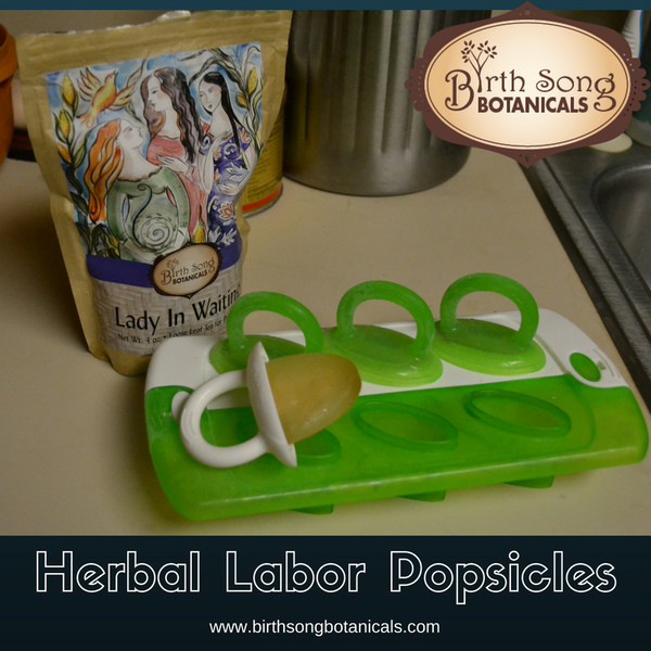 Herbal Labor Popsicles