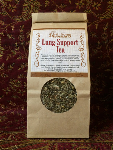 herbal decongestant for lung support tea
