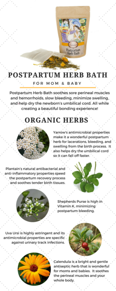 Herbs for postpartum bath