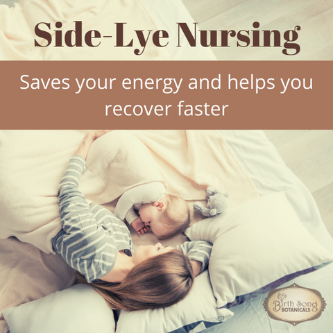 side-lying nursing helps you recover faster