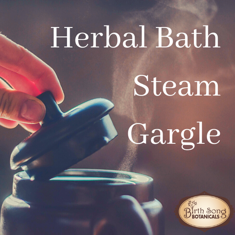 herbal bath steam and gargle for lung congestion
