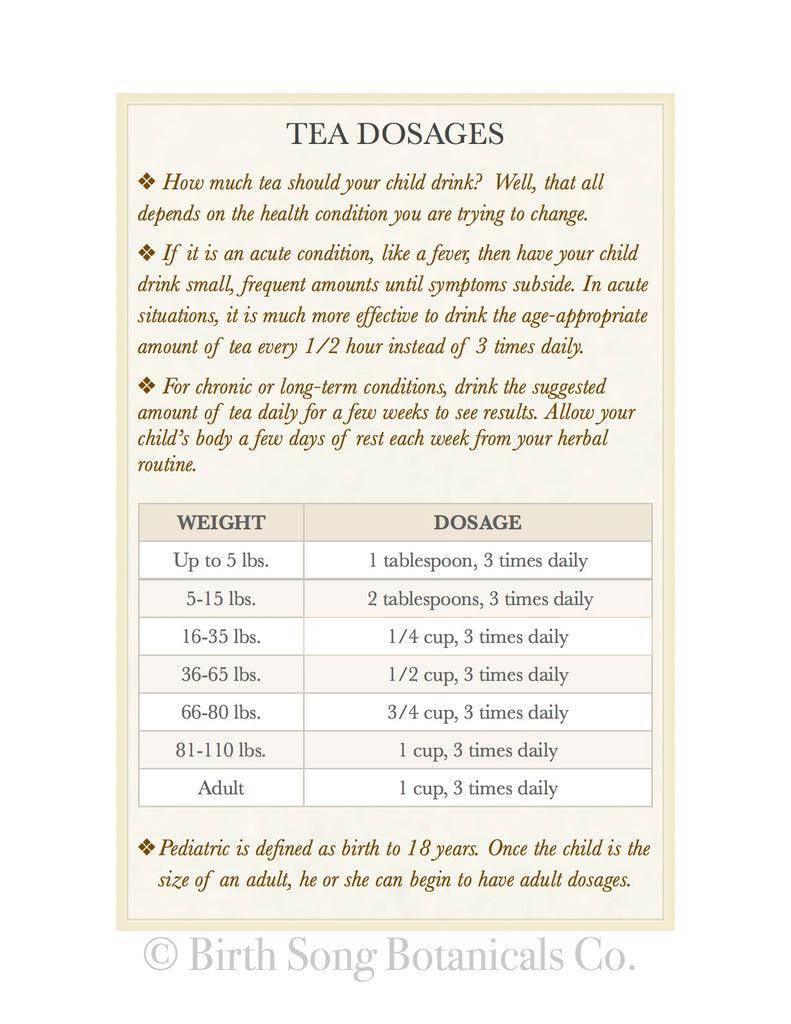 Tea Dosages