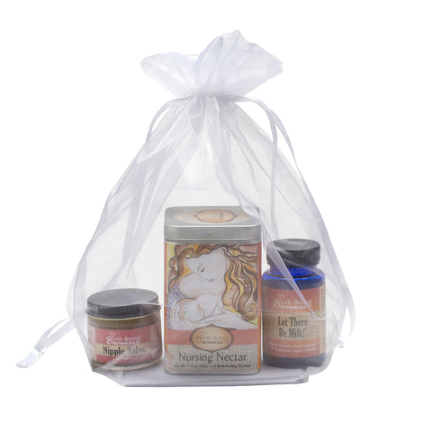 Organic Herbal Breastfeeding Gift Set With Capsules and Tea Tin