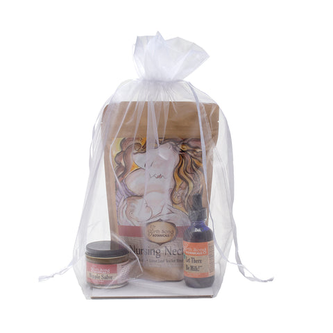 Organic Herbal Breastfeeding Gift Set With Tincture and Loose Leaf Tea