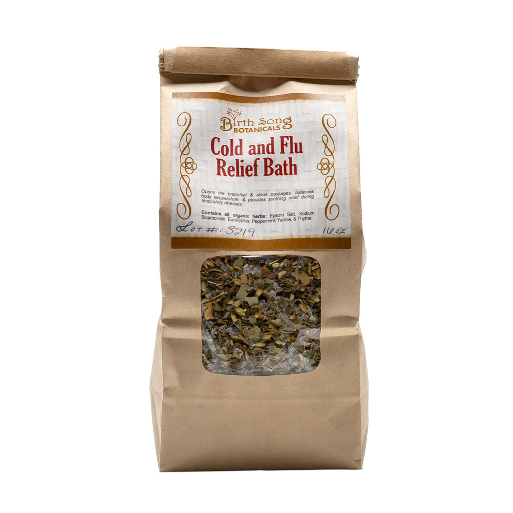 Cold and Flu Relief Herb Bath 16 oz.