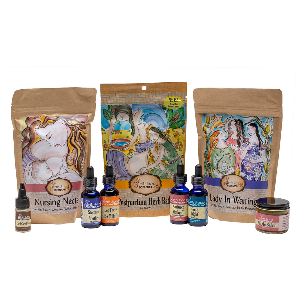 Deluxe Organic Herbal Gift Set For Pregnancy, Birth and Breastfeeding