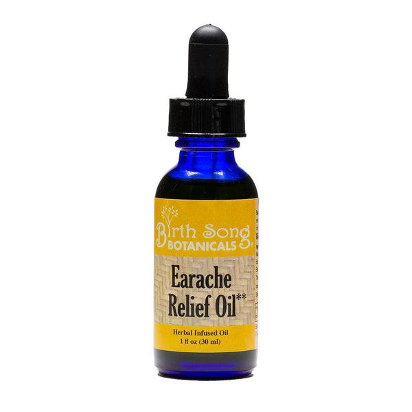 Earache Relief Oil with Garlic and Mullein Flower