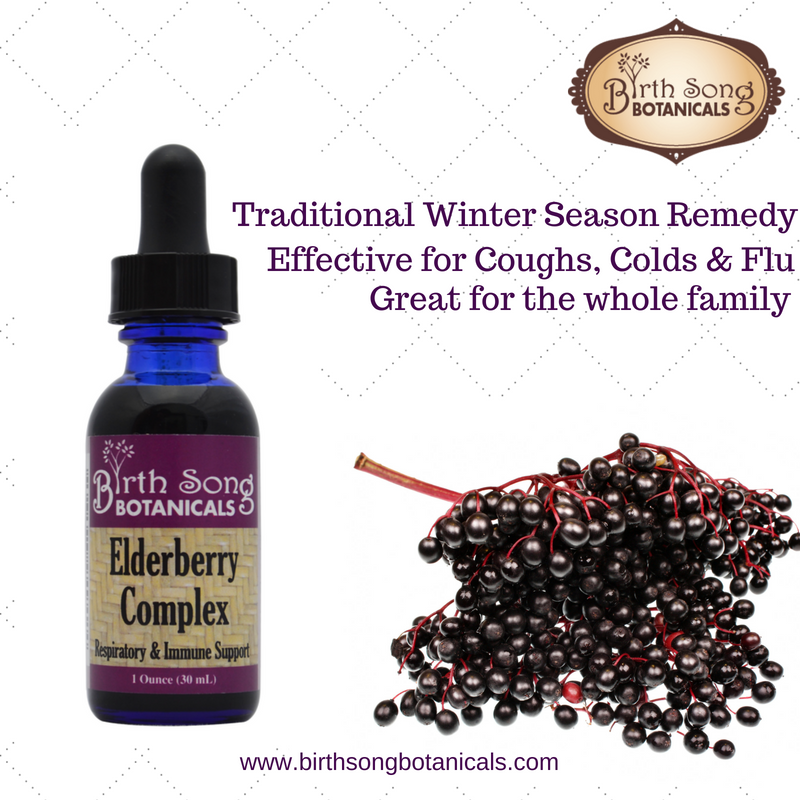 Elderberry complex cough syrup for cold and flu