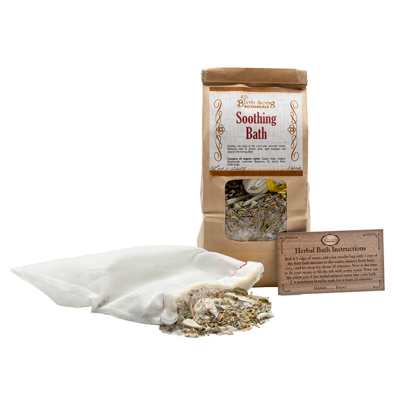 Soothing Herbal Bath for Pain Relief with insert