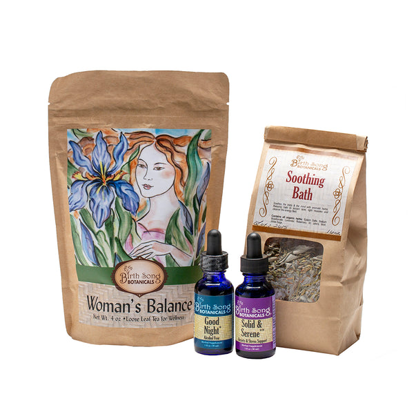 Women's Herbal Stress Relief Gift Set complete