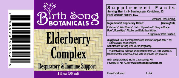 Elderberry complex tincture ingredients