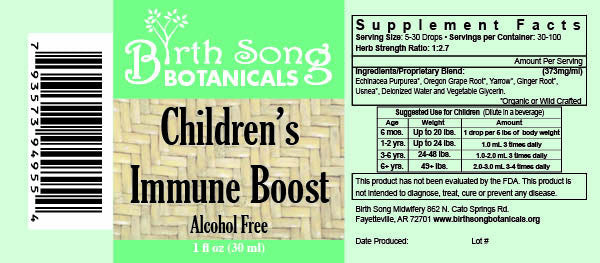 All natural Children's Immune Boost ingredients