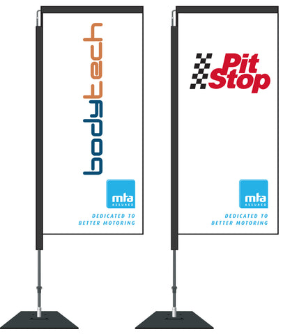 MTA Custom Swing Banner 2.1m.  1600mm x 725mm.  Member Price: