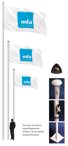 Supreme Flag Pole.  NZ's most popular flag poles!     Free Flag with 7m poles!  Worth $80.00!   Member Price:
