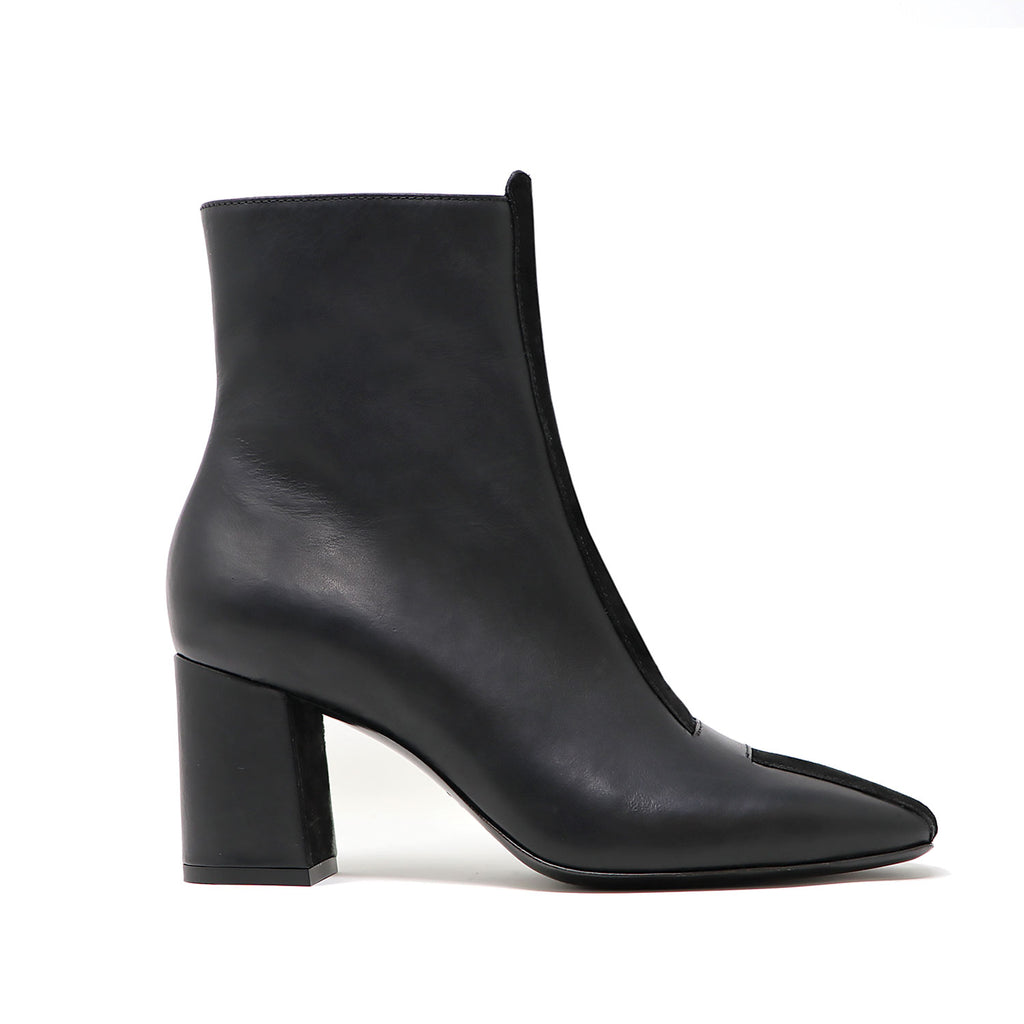JAYNE black calf leather/suede