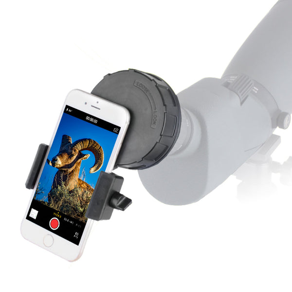 Quick Connect Spotting Scope Phone Adapter - Larger Digiscoping Adapter