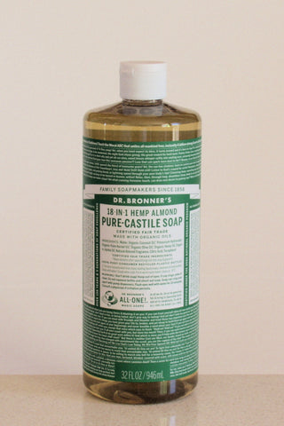 Dr Bronner's castile soap - Almond - 946mL
