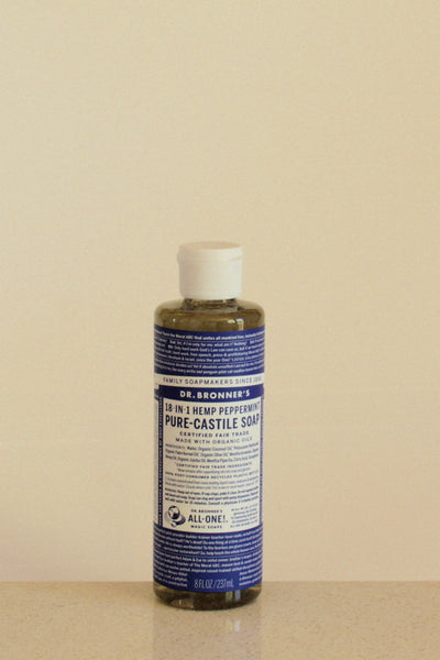 Dr Bronner's castile soap - Peppermint - 237mL