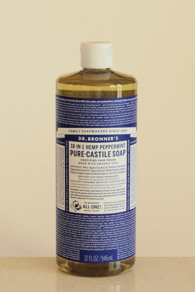 Dr Bronner's castile soap - Peppermint - 946mL