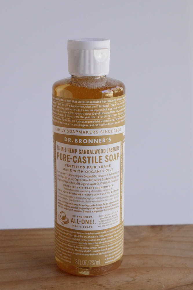 Dr Bronner's castile soap - Hemp Sandalwood and Jasmine