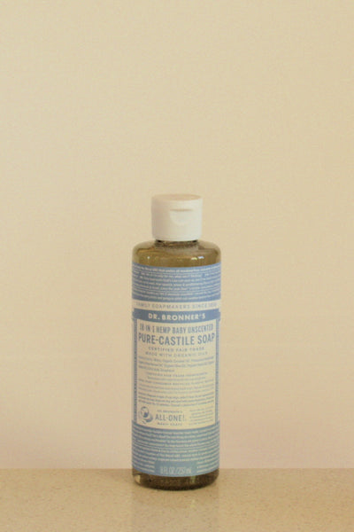 Dr Bronner's castile soap - Unscented - 237mL