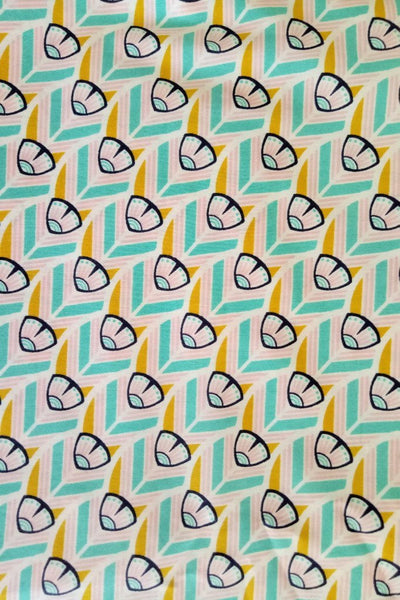 Fabric for beeswax wraps - organic cotton prints