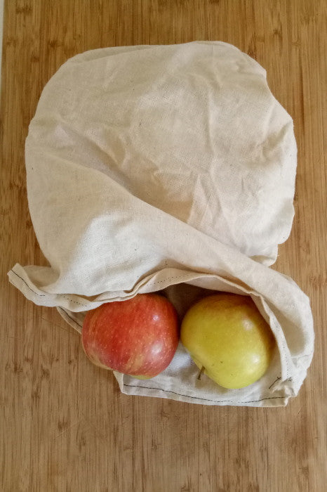 DIY produce bags with apples
