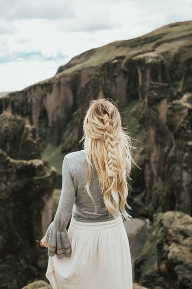 Barefoot Blonde Hair in Iceland