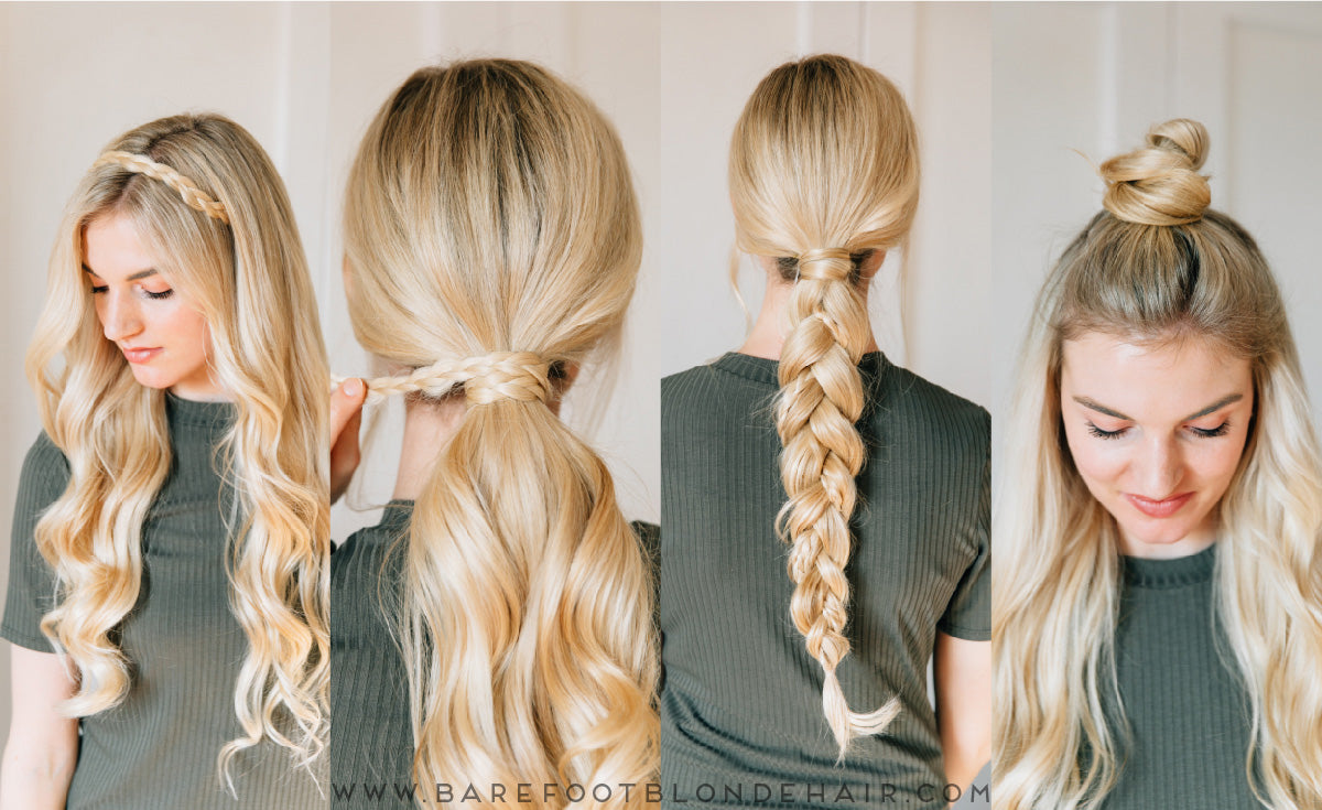 hair styles with hair extensions 4 ways to use a clip in extension to mix up your hair 4649
