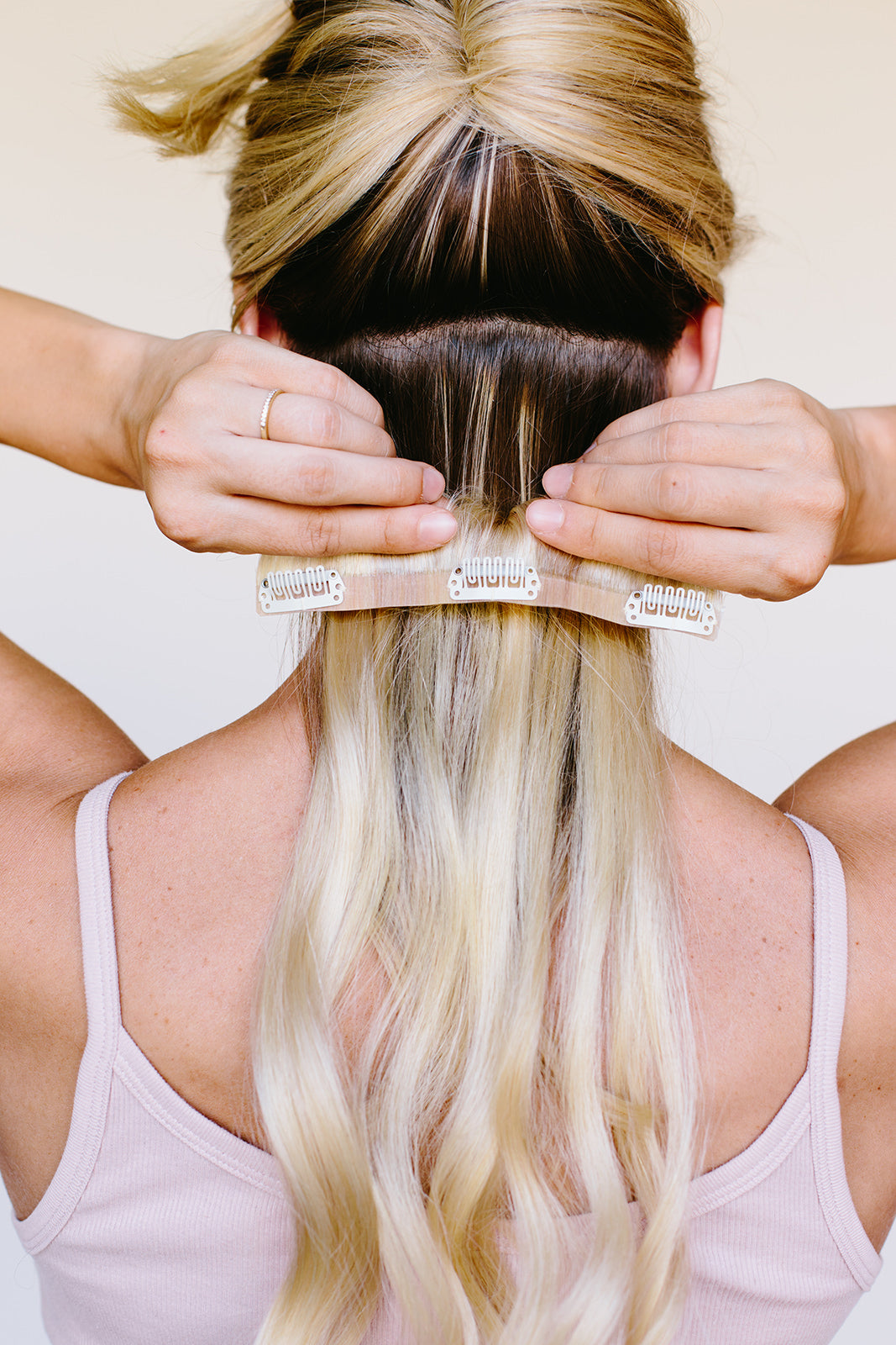 Bfb Seamless Extensions Barefoot Blonde Hair