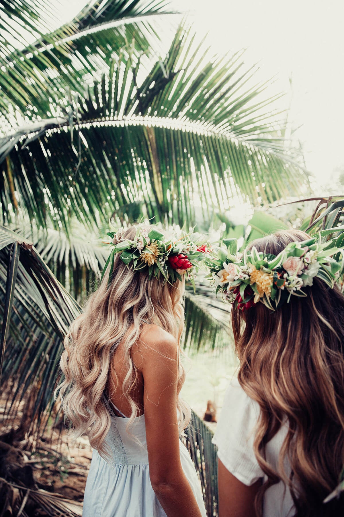 Barefoot Blonde Hair Extensions in Palm Trees