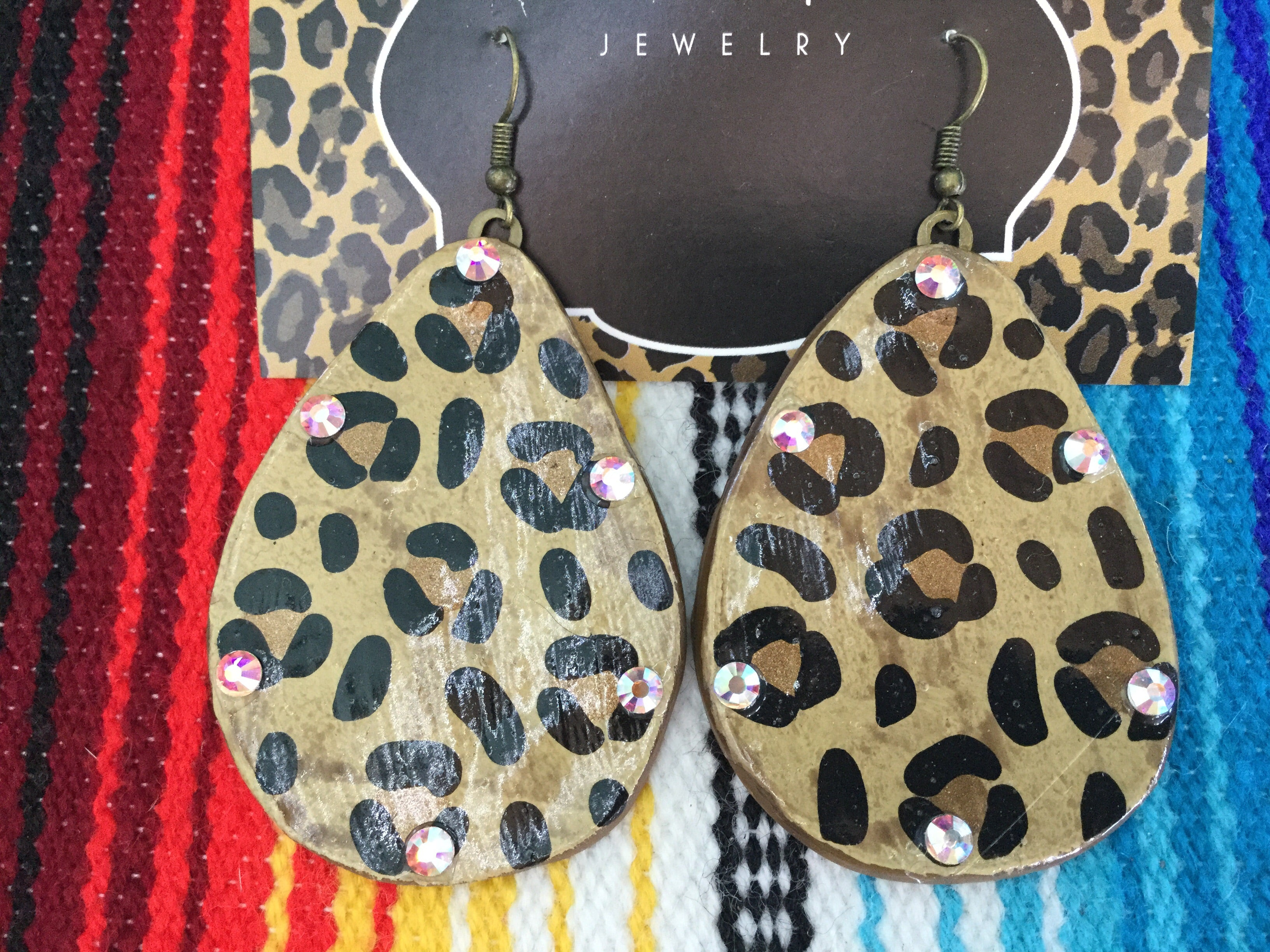 Born free Leopard Earrings